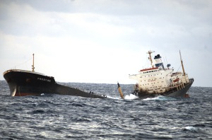 El barco petrolero Prestige